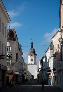 Blick in die Kremser Altstadt