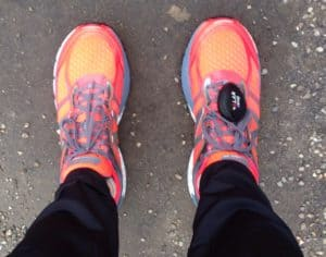 Erster Lauf in den neuen Schuhen