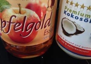 Kokosöl und Apfelessig