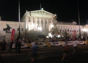 Parlament beim Vienna Night Run