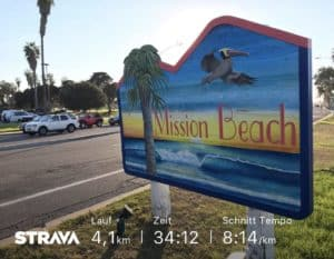 Lauf-Geh-Intervalle am Mission Beach