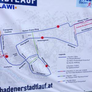 Rundkurs des Badener Stadtlauf