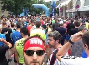 Am Start beim Badener Stadtlauf