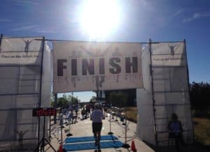 Finish Sand Creek half Marathon