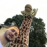 Selfie mit DER Giraffe