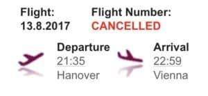 Flug gecancelt? #echtjetzt