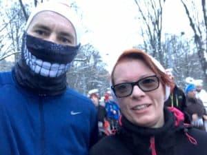 Endlich im Ziel des Vienna Christmas Run